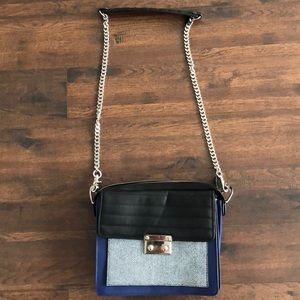 L.A.M.B. Blue and Navy crossbody bag